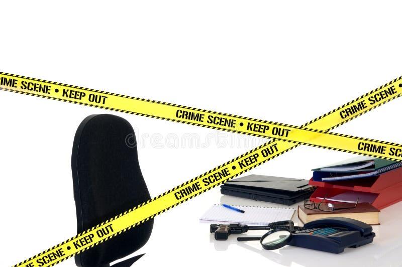 Scena del crimine di CSI immagine stock