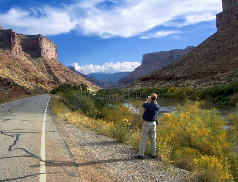 Scena del fiume di colorado fotografie stock libere da diritti