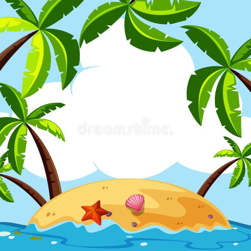 Scena del fondo con i cocchi sull'isola royalty illustrazione gratis