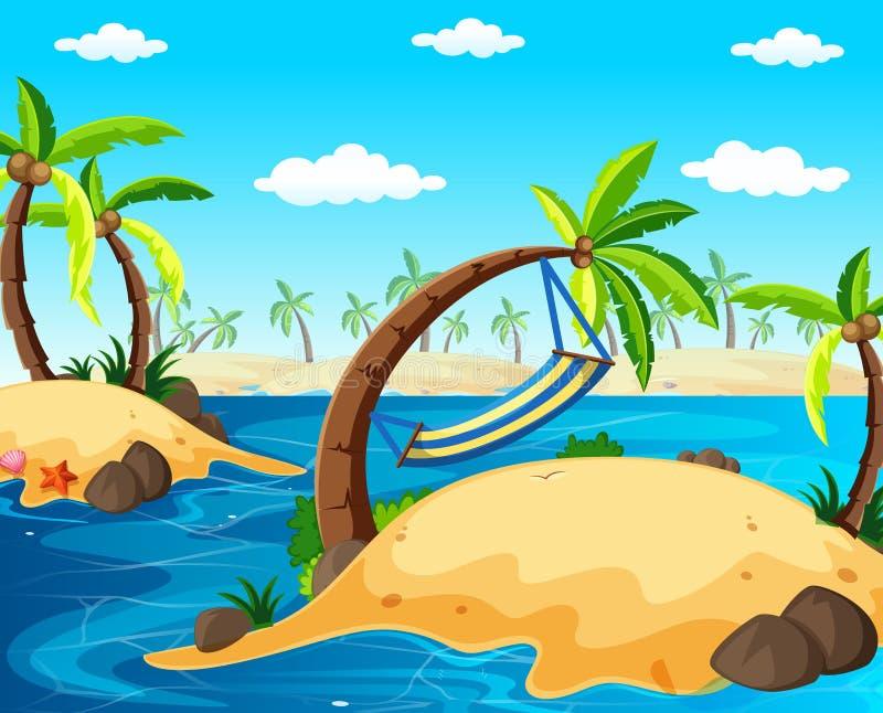 Scena del fondo con le isole nell'oceano royalty illustrazione gratis