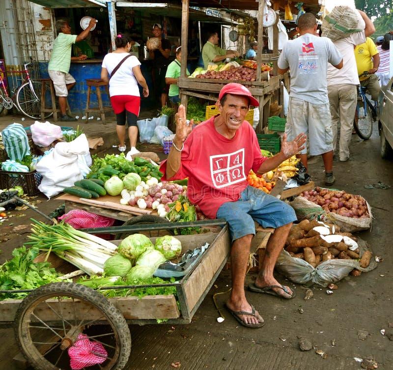 Scena del mercato, Santa Marta, Colombia immagini stock
