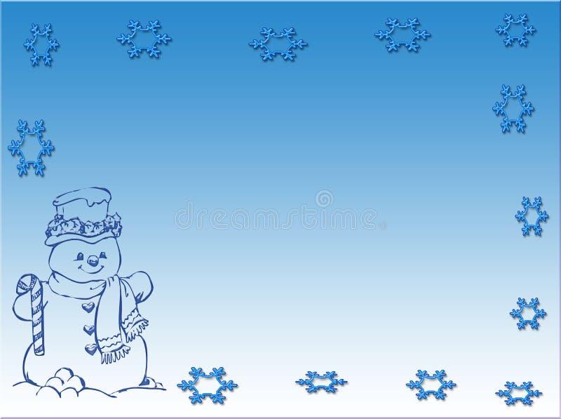 Scena del pupazzo di neve illustrazione vettoriale