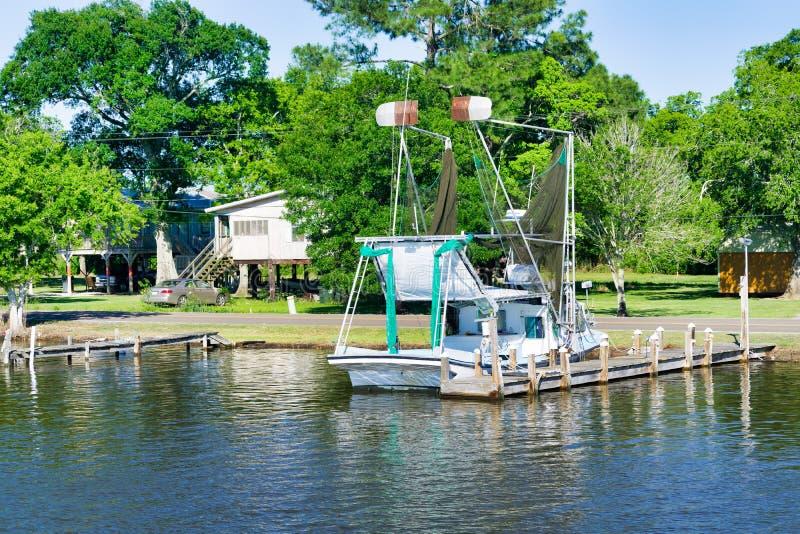Scena del ramo paludoso di fiume della Luisiana fotografie stock libere da diritti