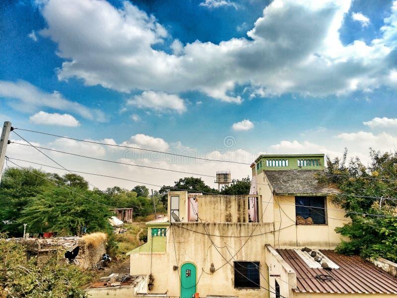 Scena del villaggio fotografia stock