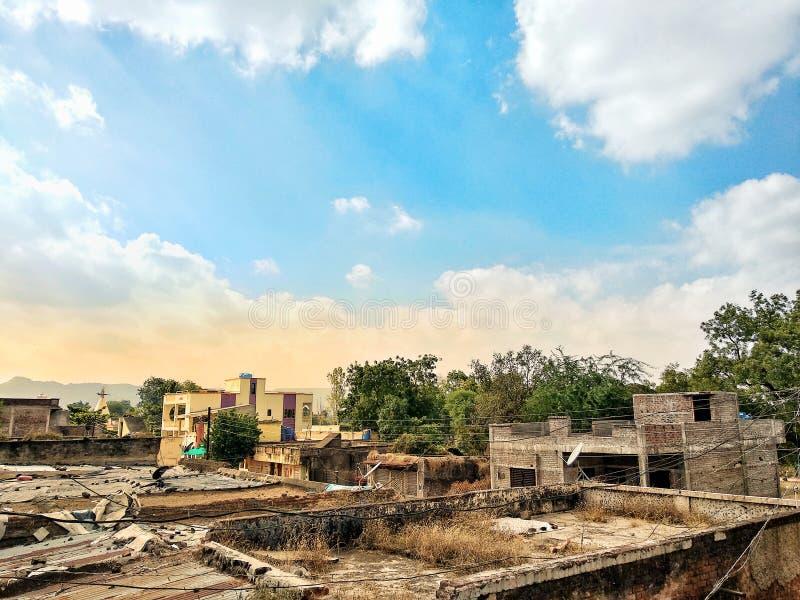 Scena del villaggio fotografie stock