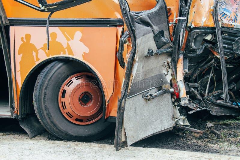 Scena dell'arresto di bus fotografia stock