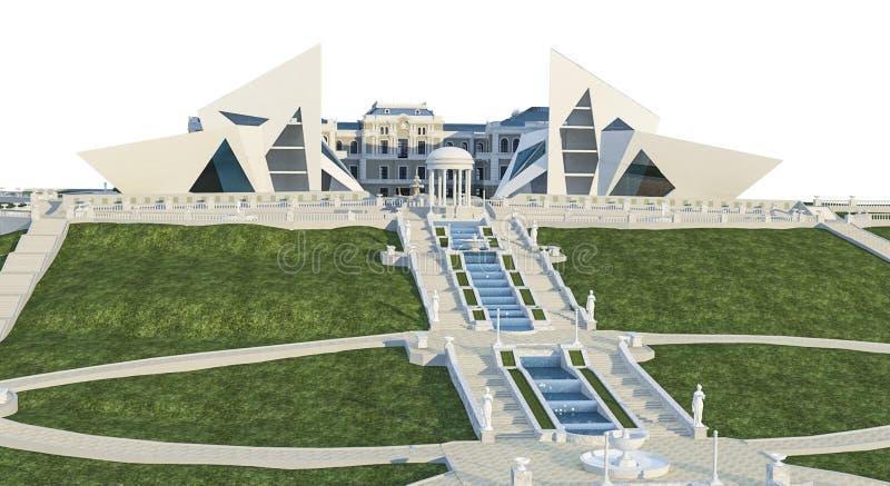 scena dell'illustrazione 3d illustrazione vettoriale