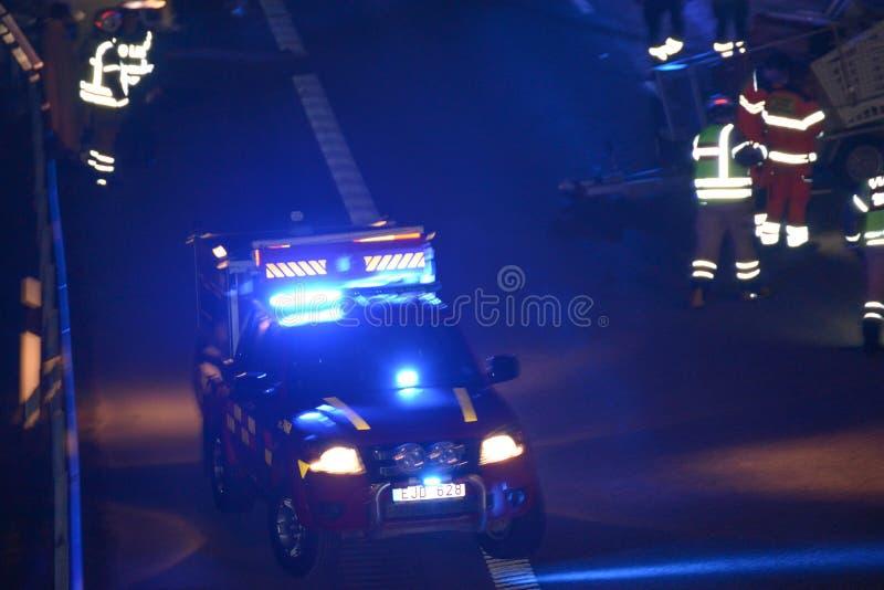 Scena dell'incidente di traffico fotografia stock libera da diritti