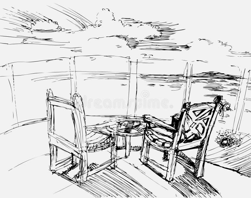 Scena dell'oceano royalty illustrazione gratis