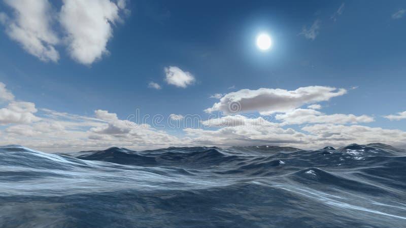 Scena dell'oceano illustrazione di stock