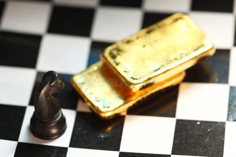 Scena della barra di oro fotografie stock