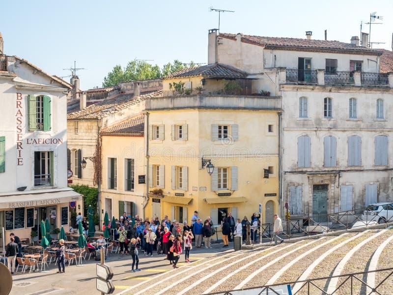 Scena della città in Arles immagine stock libera da diritti