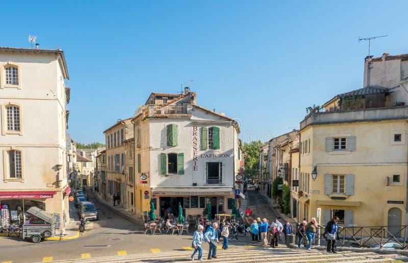 Scena della città in Arles fotografia stock