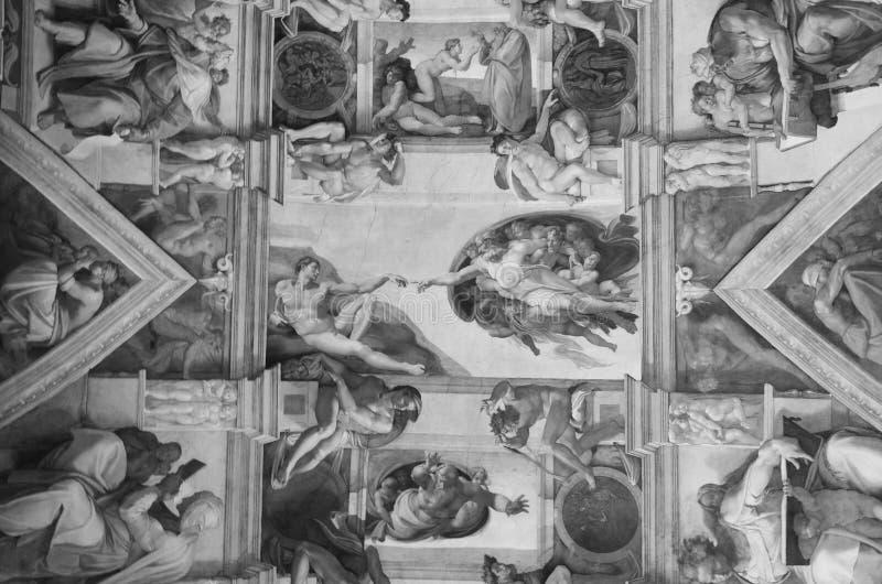 Scena della creazione nei toni grigi immagini stock libere da diritti