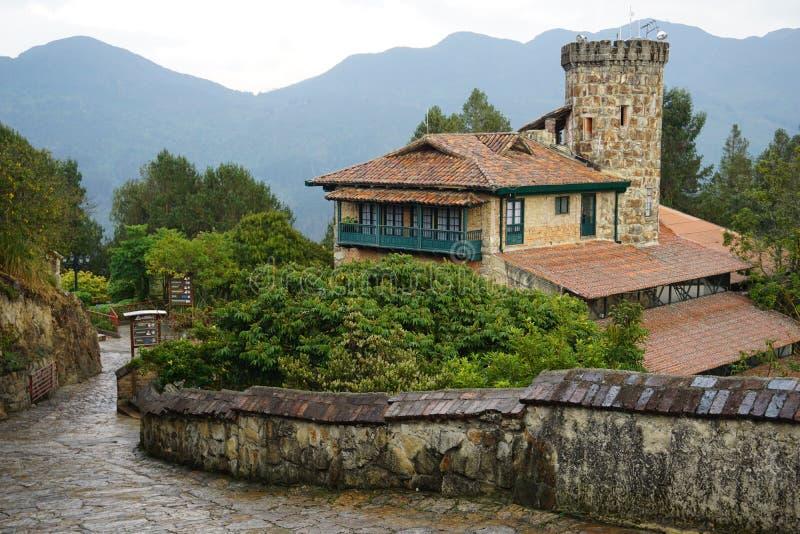 Scena della montagna su Monserrate, Colombia fotografia stock libera da diritti