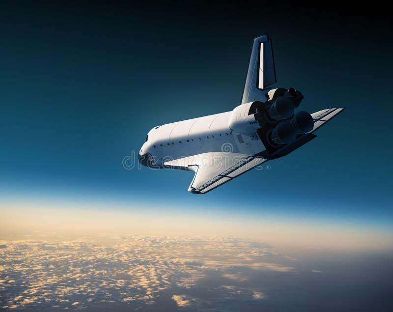 Scena della navetta spaziale Landing royalty illustrazione gratis