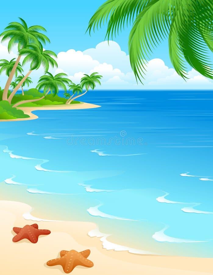 Scena della spiaggia royalty illustrazione gratis