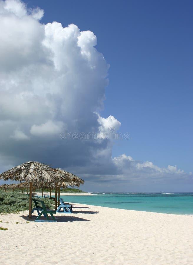 Scena della spiaggia dell'isola di Anegada fotografie stock