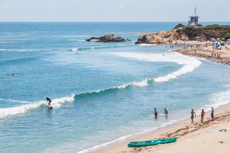 Scena della spiaggia di California immagine stock