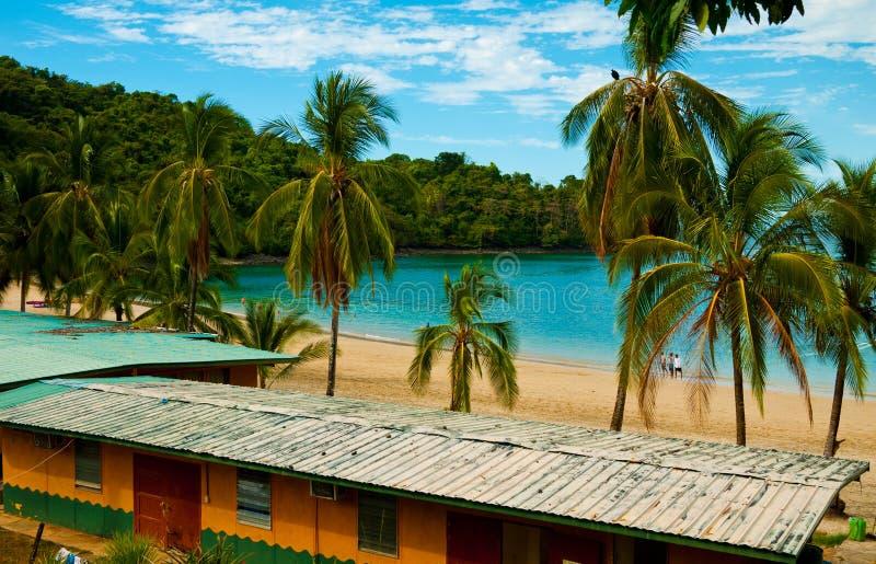 Scena della spiaggia nel Panama immagine stock