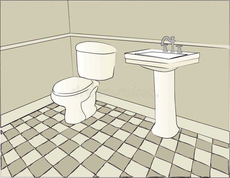 Scena della stanza da bagno royalty illustrazione gratis