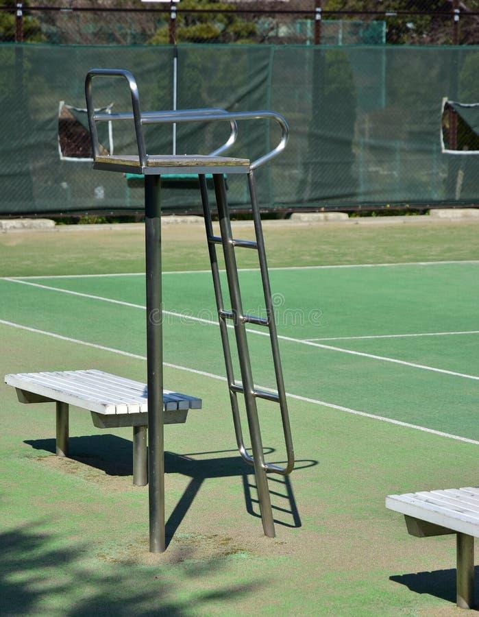 Scena della terra di tennis fotografia stock libera da diritti