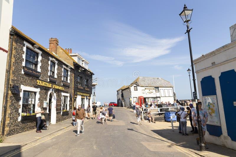 Scena della via in Broadstairs, Risonanza, Regno Unito fotografie stock