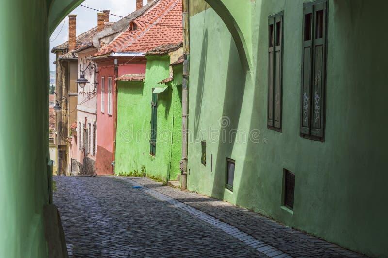 Scena della via della città immagine stock