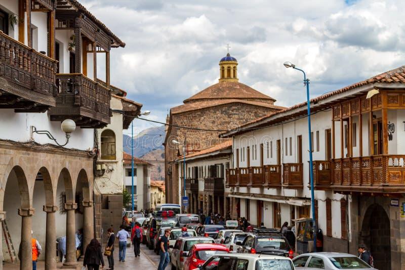 Scena della via in Cusco fotografia stock libera da diritti