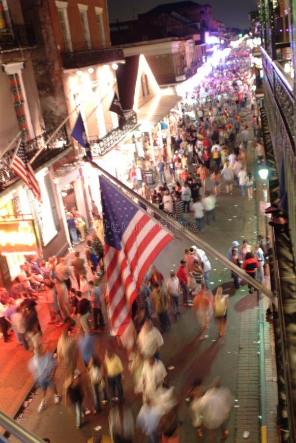 Scena della via del Bourbon immagini stock