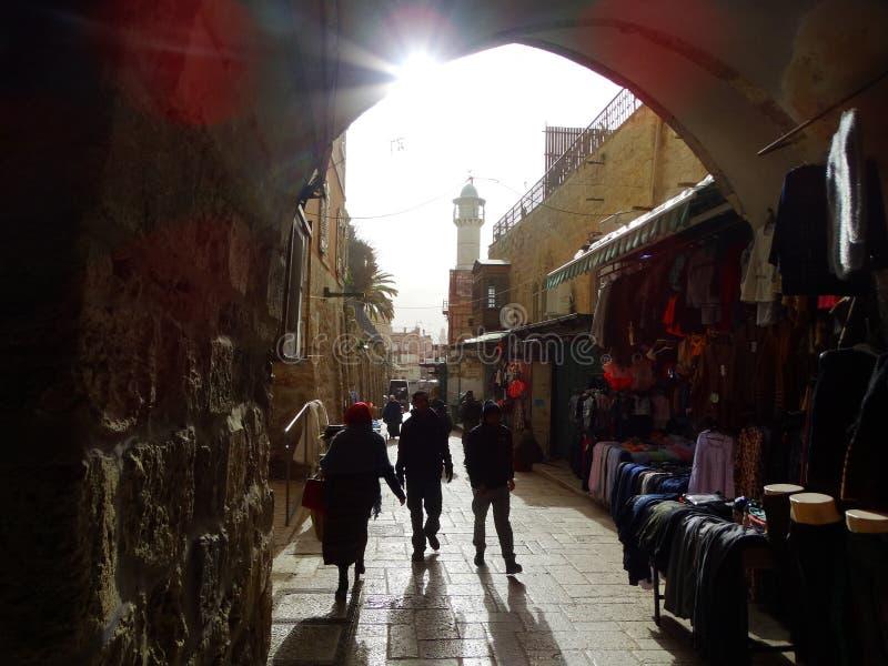 Scena della via di Betlemme, Palestina Israele fotografia stock