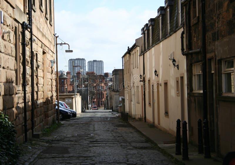 Scena della via di Glasgow fotografia stock libera da diritti