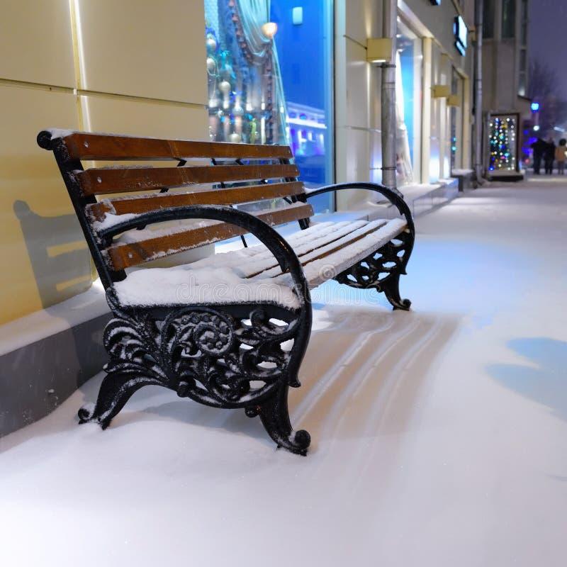 Scena della via di inverno di Mosca, Russia immagine stock