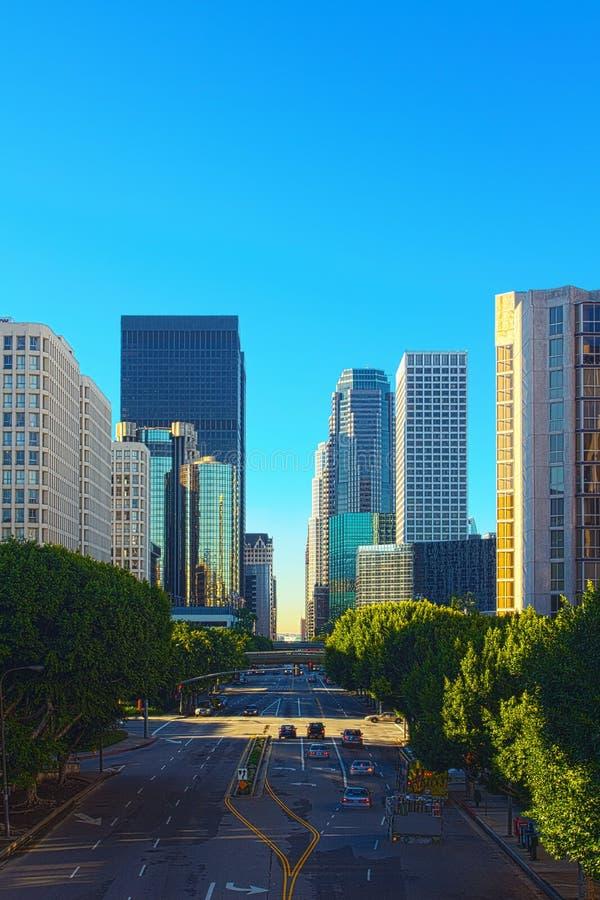 Scena della via di Los Angeles immagine stock