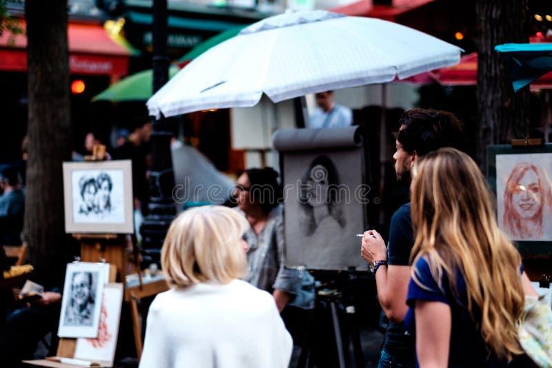 Scena 7 della via di Parigi immagine stock