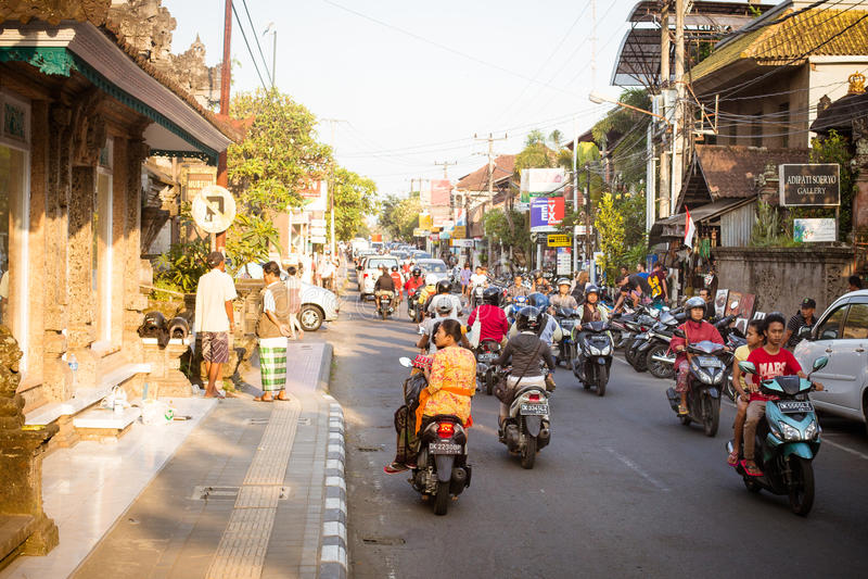 Scena della via di Ubud immagini stock libere da diritti