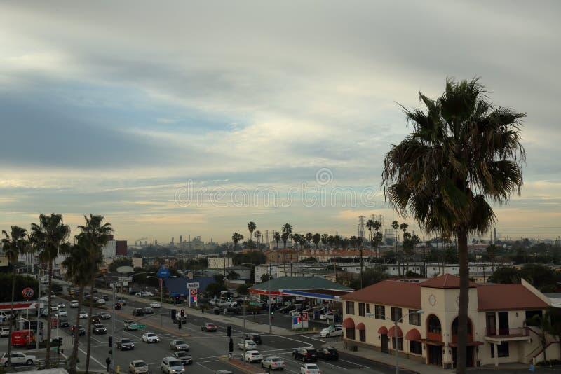 Scena della via in El Segundo fotografie stock
