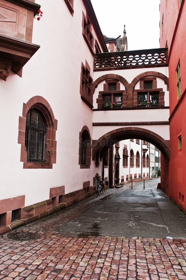 Scena della via a Friburgo-in-Brisgovia Germania fotografia stock