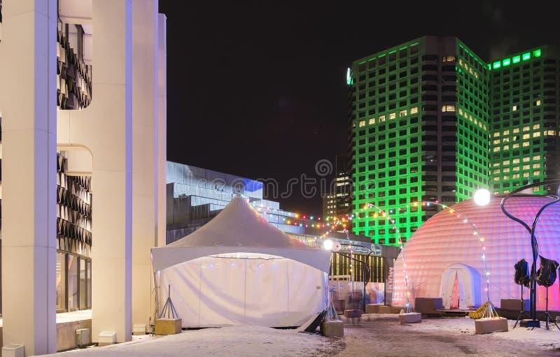 Scena delle tende di Luminotherapy fotografia stock