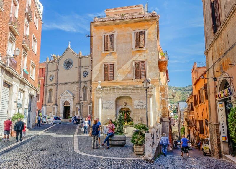 Scena delle vie in Tivoli, Italia immagini stock