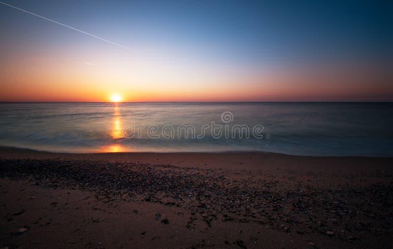 Scena dello scape del mare nell'oceano fotografia stock