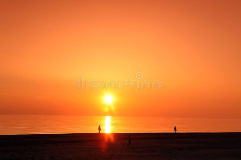 Scena dello scape del mare nell'oceano, oceano della spiaggia fotografia stock