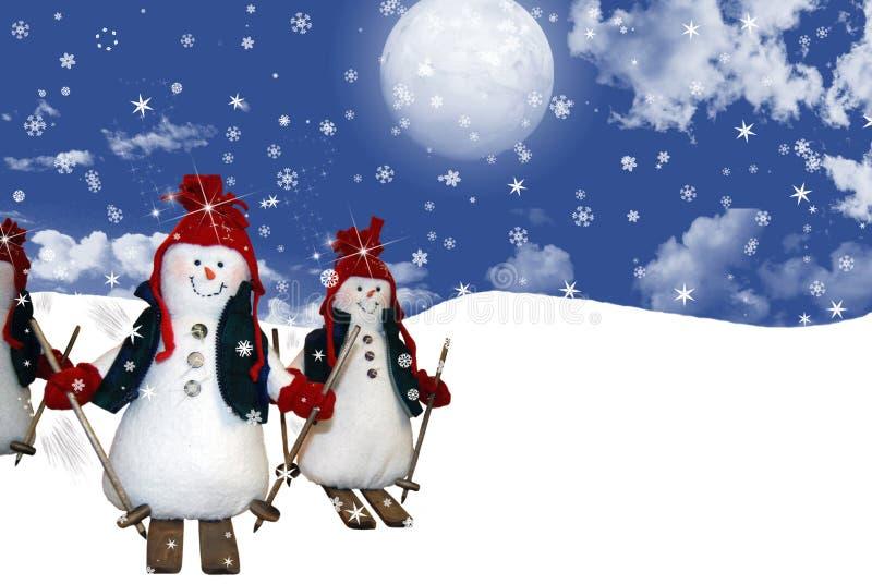 Scena dello Snowy illustrazione di stock