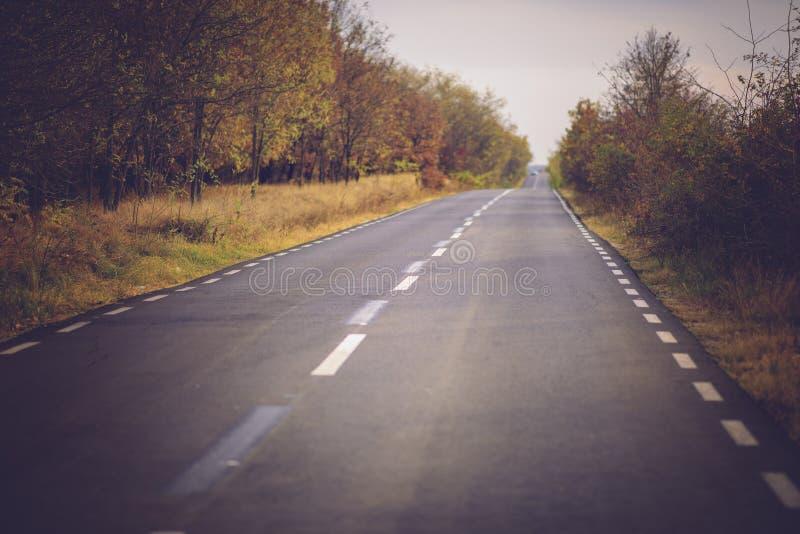 Scena di autunno con la strada immagini stock