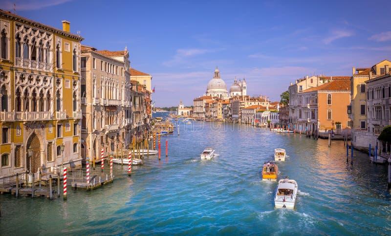 Scena di Grand Canal, Venezia fotografie stock libere da diritti
