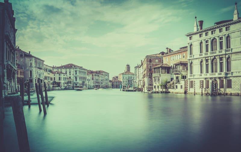 Scena di Grand Canal, Venezia fotografia stock libera da diritti