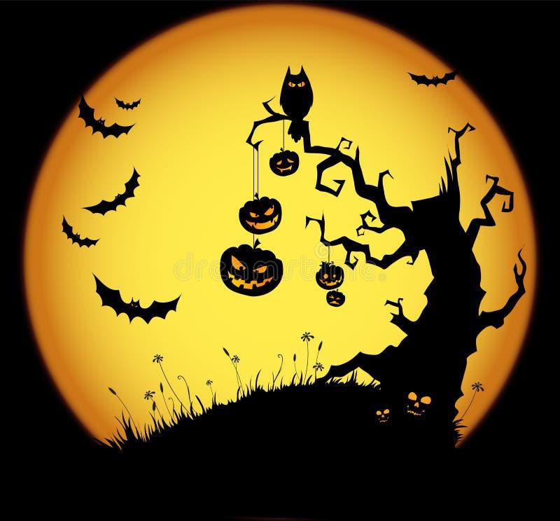 Scena di Halloween immagini stock libere da diritti
