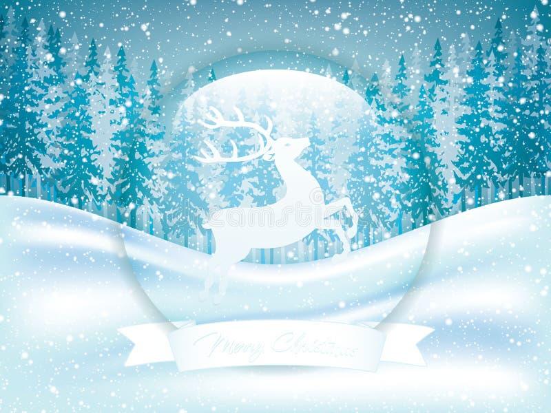 Scena di inverno illustrazione di stock
