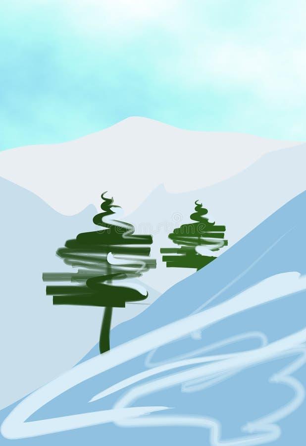 Scena di inverno illustrazione vettoriale