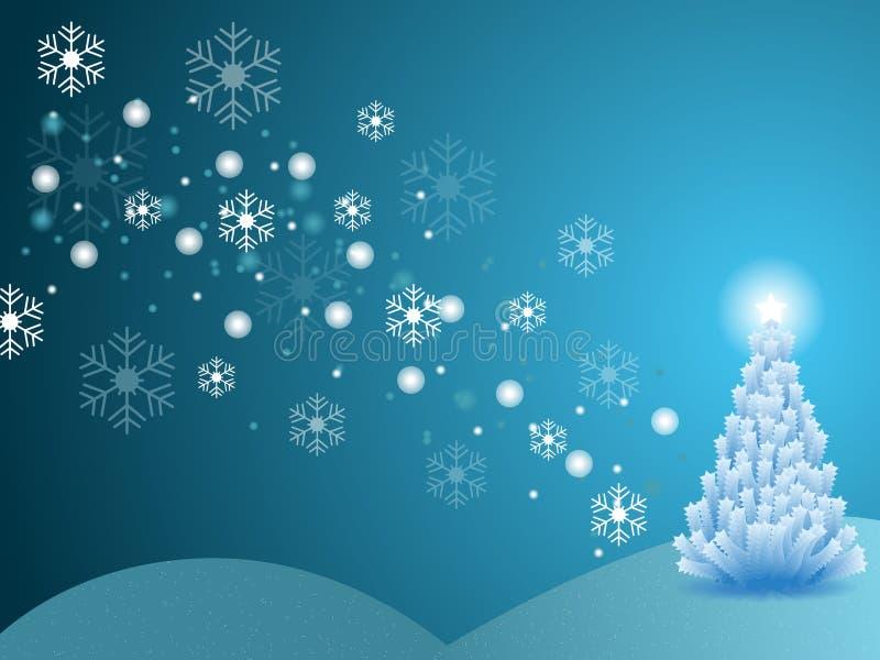 Scena di inverno di natale illustrazione di stock